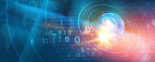 Fond de monde numérique moderne graphique Photo Premium