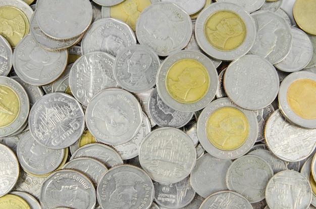 Fond de monnaie thaïlandaise Photo Premium