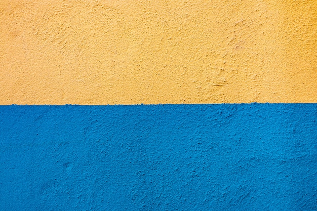 Fond De Mur Jaune Bleu Photo Premium
