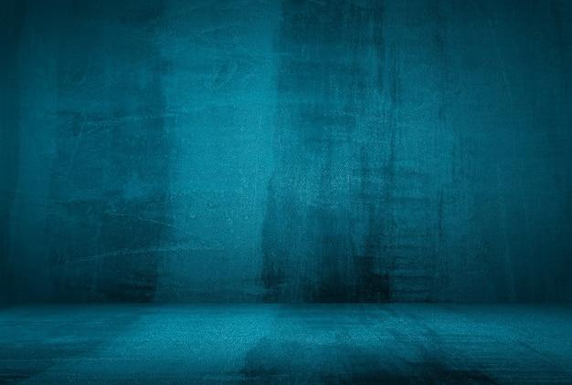 Fond De Mur De Studio De Texture Béton Bleu Grunge Vintage Avec Vignette. Photo gratuit