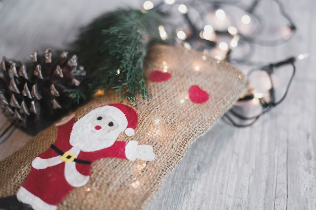 Fond De Noël Avec Chaussette Photo gratuit