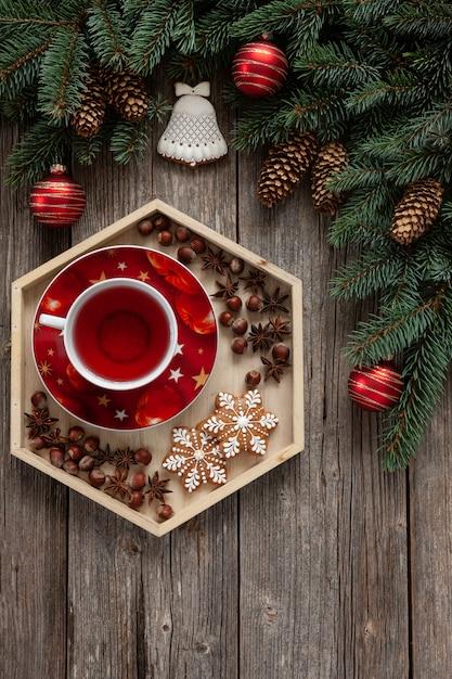 Fond de noël décoratif Photo Premium