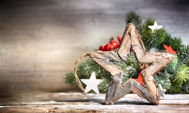 Fond De Noël D'hiver Photo Premium