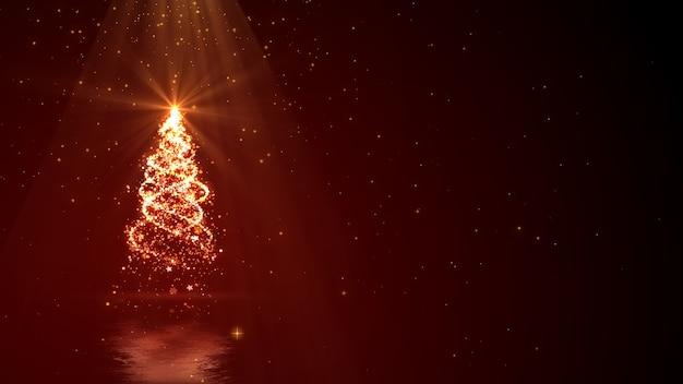 Fond De Noël Avec Des Lumières D'arbre Magique Avec Un Espace Pour Votre Texte. Photo Premium