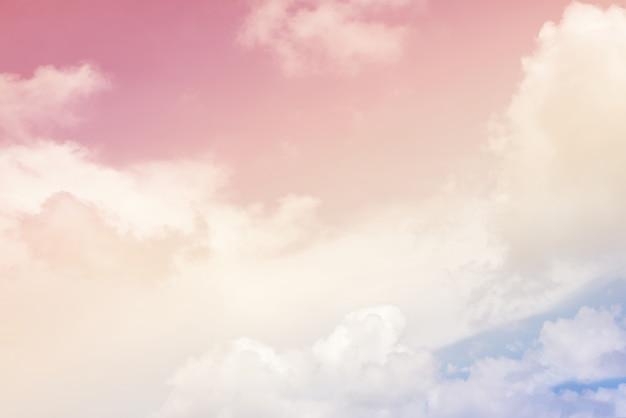 Fond de nuage avec une couleur pastel Photo Premium