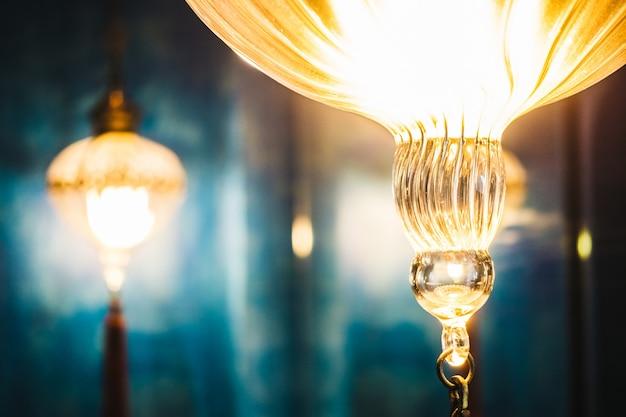 Fond orientale lanternes d'art du milieu Photo gratuit