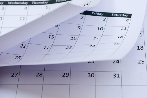 Fond de page de calendrier Photo Premium