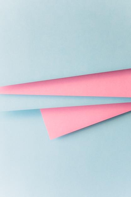 Fond de papier bleu et rose réaliste Photo gratuit
