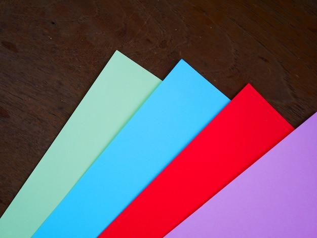 Fond de papier couleur concept Photo Premium