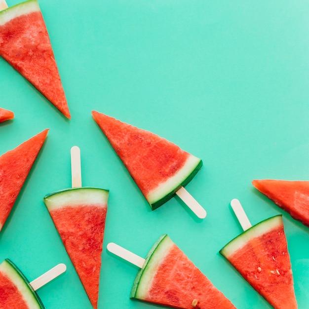 Fond de pastèque vert avec fond Photo gratuit