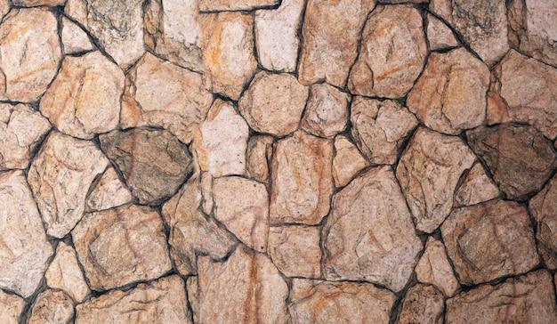 Un Fond En Pierre Naturelle De Forme Panoramique. Photo Premium