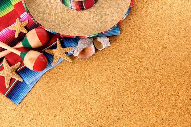 Fond de plage mexicaine Photo Premium