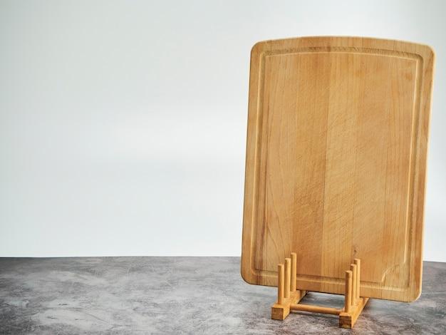 Fond Avec Planche à Découper Sur Table En Marbre Gris Photo Premium