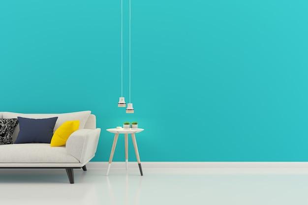 Fond de plancher intérieur maison salon avec fond Photo Premium