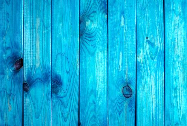 Fond De Planches De Bois Bleu Photo Premium