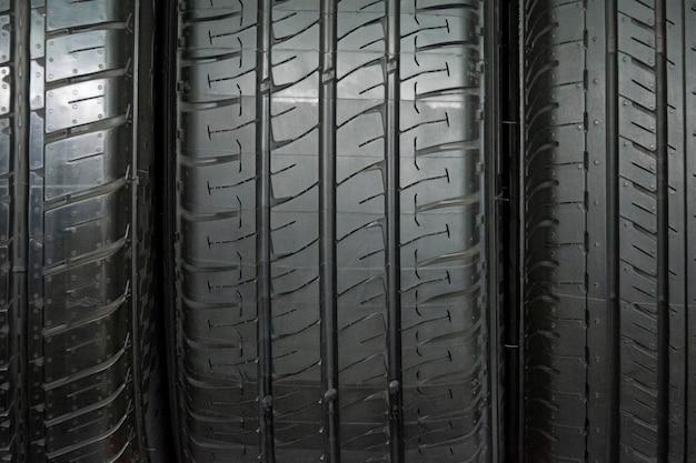 Fond de pneu de voiture, pneu closeup texture fond, Photo Premium