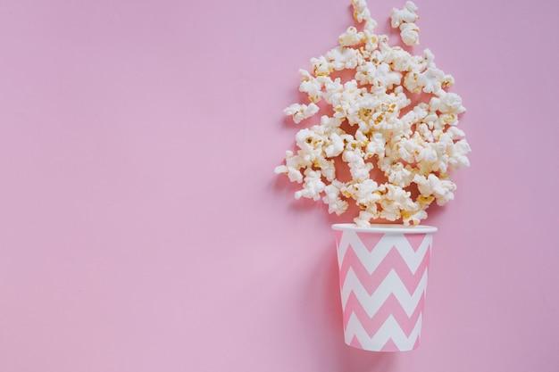 Fond De Popcorn Rose Photo gratuit