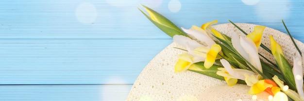 Fond De Printemps Avec Fleur Photo Premium