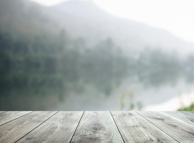 Fond de produit de table en bois Photo gratuit