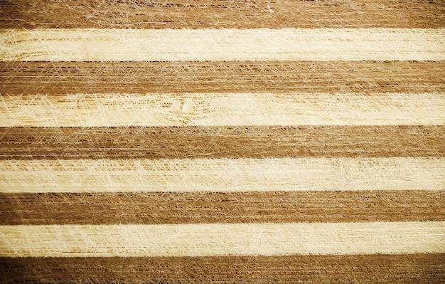 Fond rayé marron en bois Photo Premium