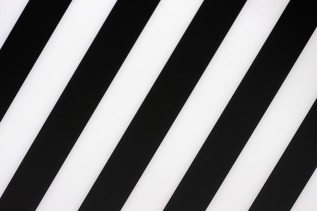 Fond de rayures diagonales noir et blanc, texture Photo Premium