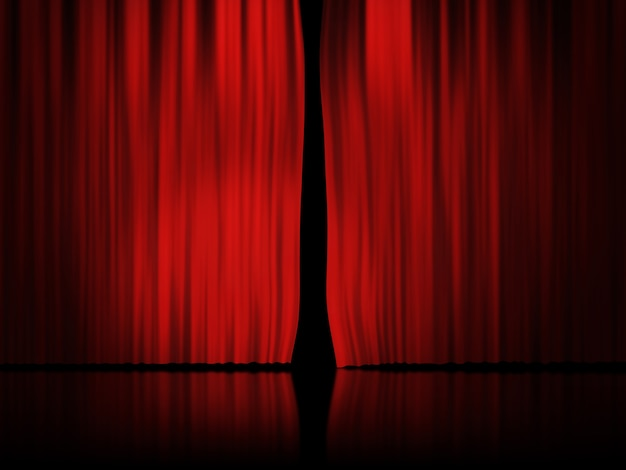 Fond de rideau de scène rouge Photo Premium
