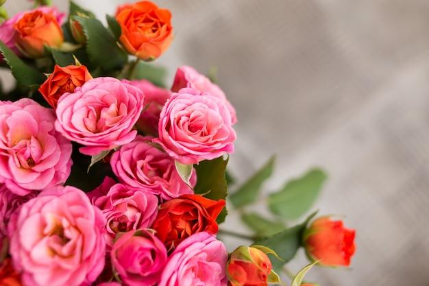 Fond de roses de couleur douce Photo Premium