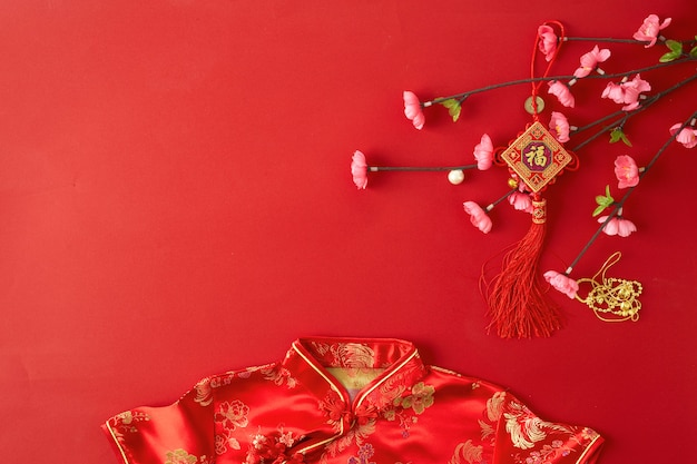 Fond rouge du nouvel an chinois. Photo Premium