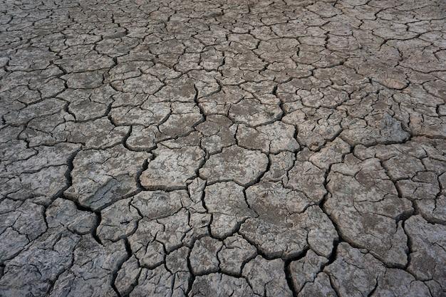 Fond de saison de sécheresse au sol fissuré Photo Premium
