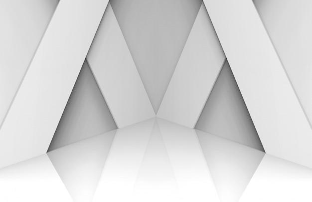 Fond de scène de panneau blanc moderne Photo Premium