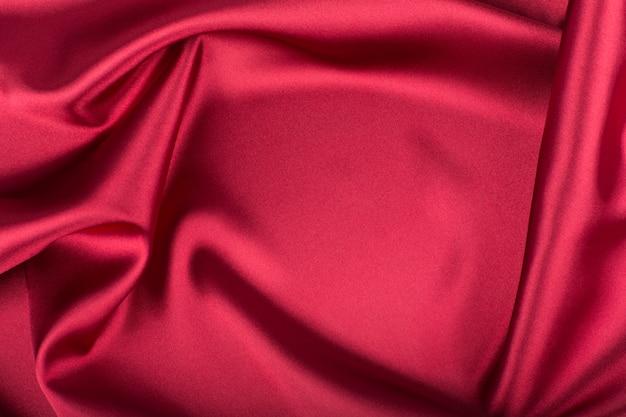 Fond de soie rouge (satin) Photo Premium