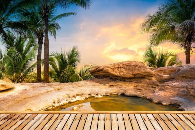 Fond de spa en plein air Photo Premium