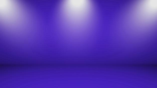 Fond De Studio De Salle Vide Avec Des Murs Bleus Et Des Lumières D'en Haut Photo Premium