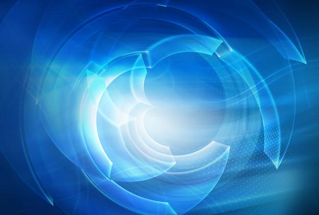 Fond de technologie abstraite numérique Photo Premium
