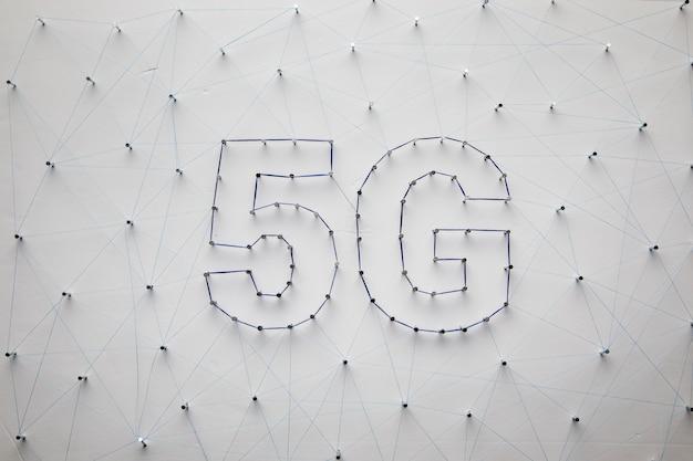 Fond De Technologie Blanc 5g Photo gratuit