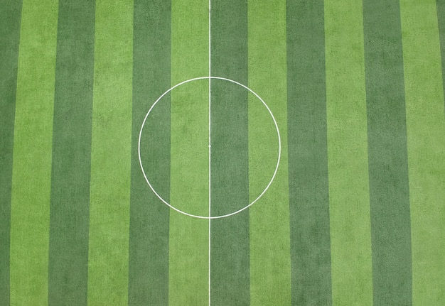 Fond de terrain de football d'herbe verte Photo Premium