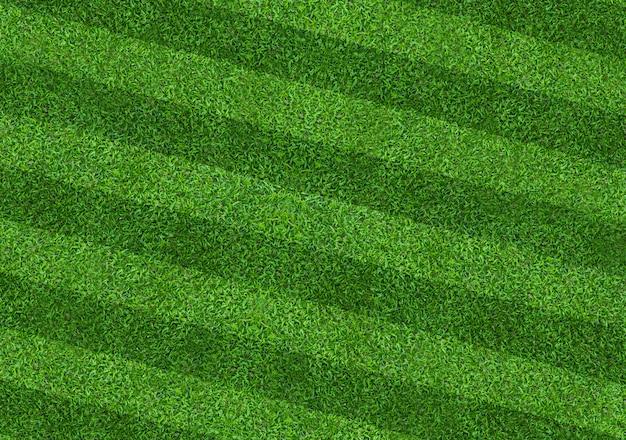 Fond de terrain d'herbe verte pour les sports de football et de football. motif de pelouse verte et fond de texture. fermer. Photo Premium