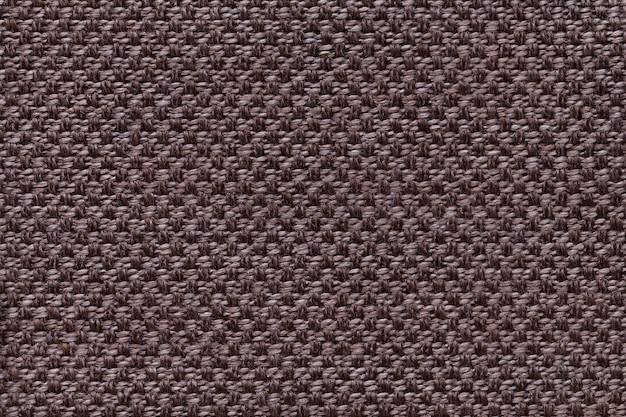 Fond textile marron foncé avec damier damier. Photo Premium