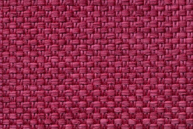 Fond textile rouge foncé à damier Photo Premium