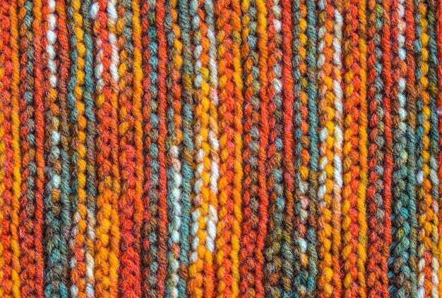 Fond Textile Tricoté Confortable, Texture Foulard En Laine Fabriqué à La Main Photo Premium