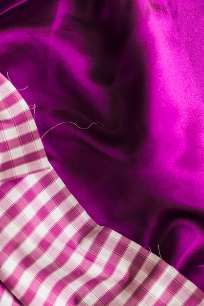 Fond Textile Uni Et à Carreaux Photo gratuit
