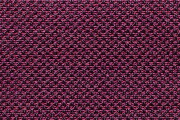Fond textile violet avec motif en damier, structure du tissu Photo Premium
