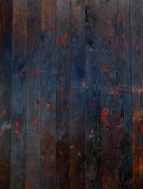 Fond de texture de barrière de bois brûlé Photo Premium
