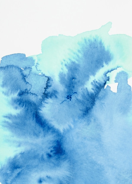Fond texturé bleu aquarelle Photo gratuit