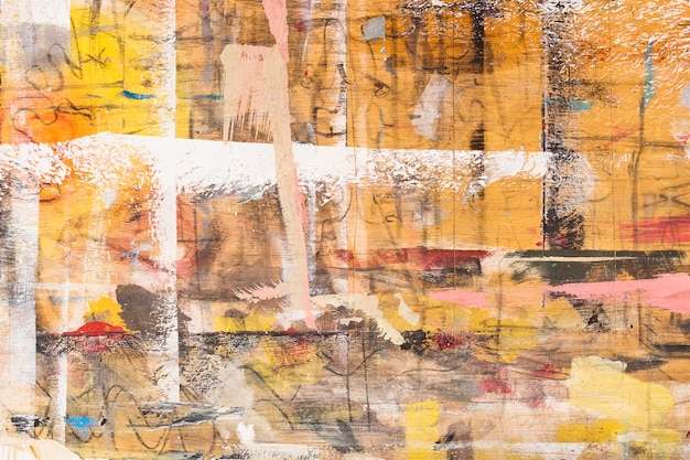 Fond texturé en bois peint malpropre Photo gratuit