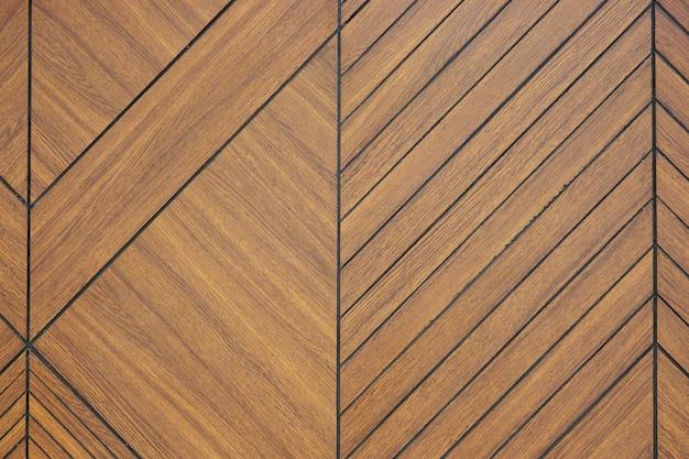 Fond de texture bois sculpté brun Photo Premium