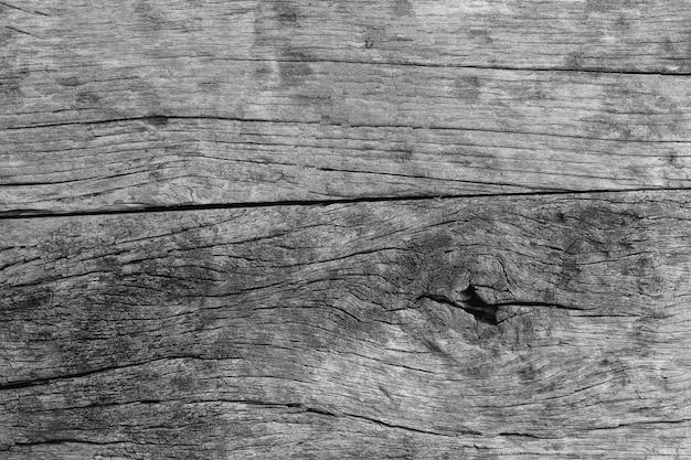 Fond de texture bois vieux foncé et gris Photo Premium