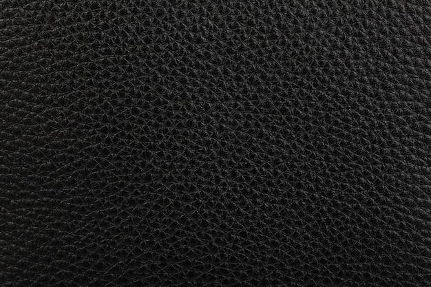 Fond De Texture De Cuir Naturel Noir Photo Premium