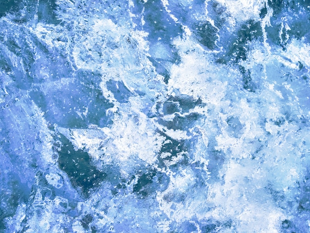 Fond Texturé De Glace Bleue Photo Premium