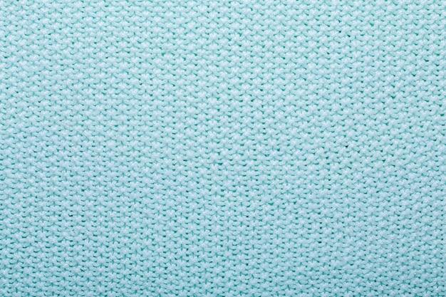Fond De Texture De Laine à Tricoter Menthe Texture De Tissu Au Crochet Vue De Dessus Espace De Copie Photo Premium